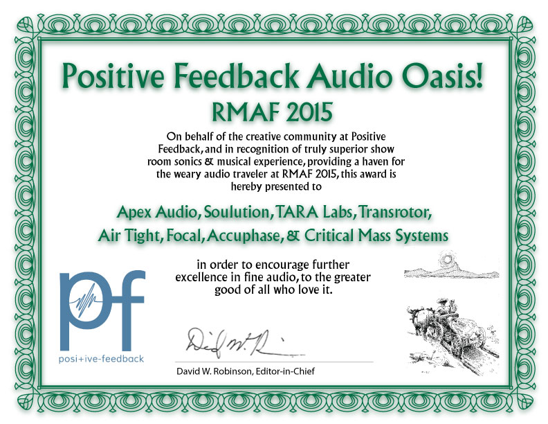 Audio Oasis Apex Soulution etc